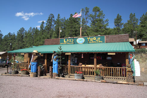 Lazy trout market greer arizona for Cabins to rent in greer az
