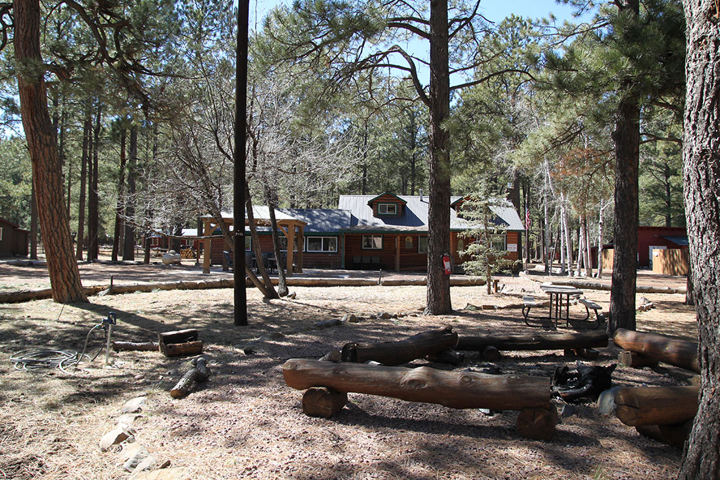 Big 10 Lodge cabin with fire pit